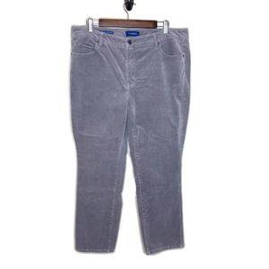 Talbots women's high waist stretch 16  gray pants
